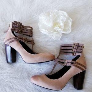 Apepazza Tan Leather Heels size 6